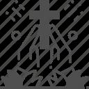 christian, cross, easter, prayer, religion icon