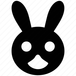 bunny face, easter, easter bunny, hare face, rabbit icon