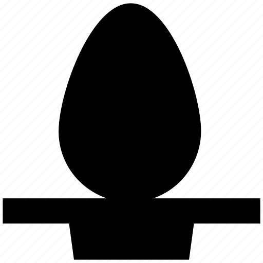 easter decoration, easter egg, egg, egg holder, egg serving icon