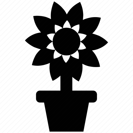 flower, flowering, greenness, nature, plant, pot, potted plant icon
