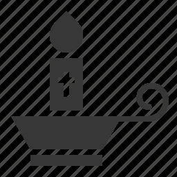 candle, celebration, easter, holiday, jesus, lamp icon