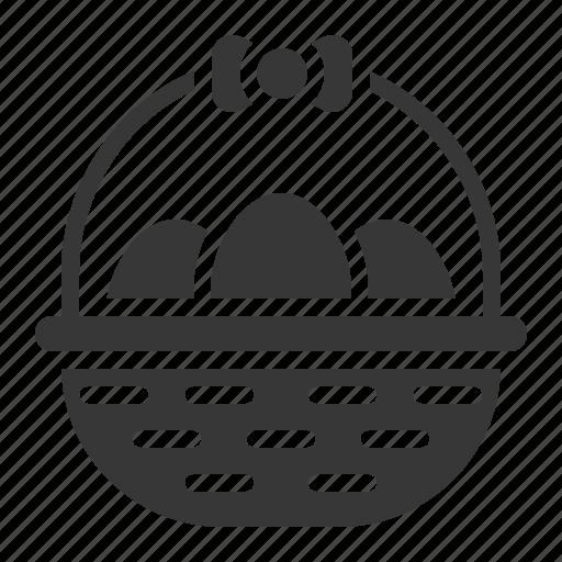 Basket, celebration, easter, egg, egg basket, holiday icon - Download on Iconfinder