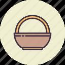 basket, bowl, carry, decoration, easter