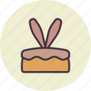 bunny, cake, dessert, ears, easter, rabbit, bakery
