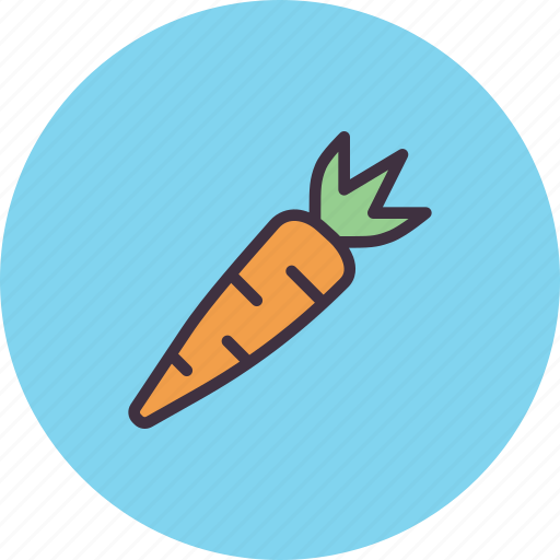 carrot, easter, food, healthy, spring, vegetable icon