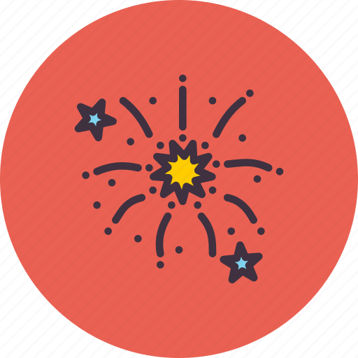 bang, celebration, festival, fireworks, new, stars, year icon