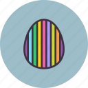 decorated, decoration, easter, egg, paschal, stripes icon