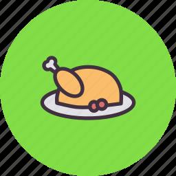 chicken, lunch, meal, meat, roast, turkey icon
