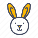 bunny, cute, easter, happy, rabbit icon