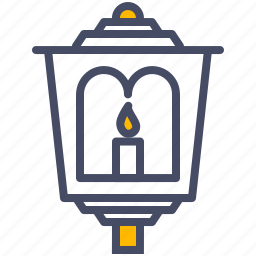 easter, lamp, lantern, light, paschal, procession icon