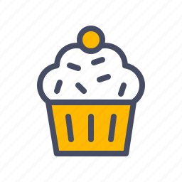 cake, cup, dessert, easter, muffin, pudding, sweet icon