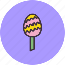 candy, confectionery, dessert, easter, egg, lollipop, sugar icon