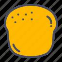 bagel, bake, bakery, bread, pastry, scone icon