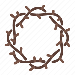 crown, crown of thoms, easter, fast, thorns icon