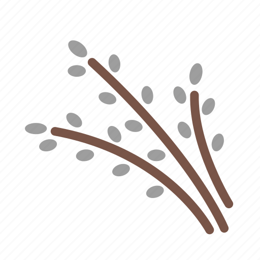 buds, catkin, easter, nature, new life, spring icon