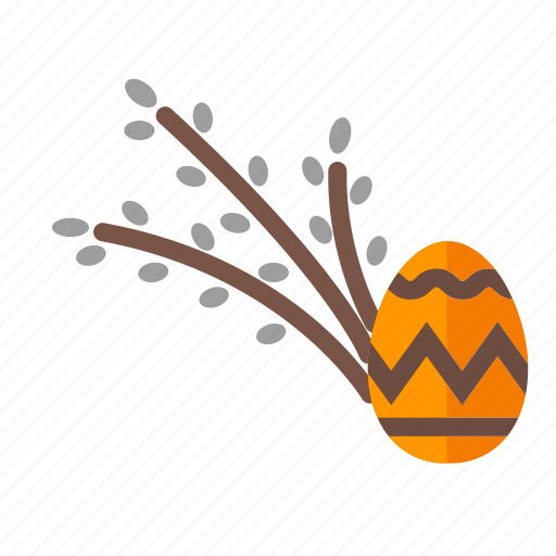 catkin, easter, egg, holiday, spring icon