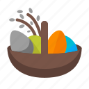 basket, easter, easter basket, egg, holy food icon