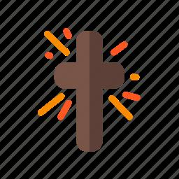 blowing, catholic, christian, cross, pray, religious, spiritual icon