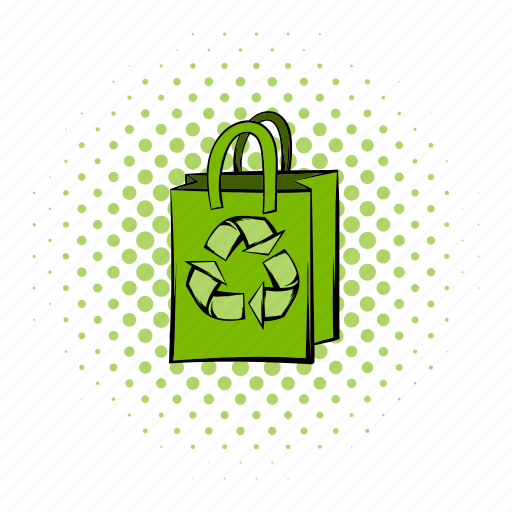 bag, comics, eco, ecology, natural, paper, recycle icon