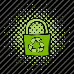 bag, cloth, comics, eco, ecology, recycle, retail icon