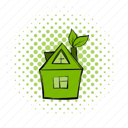building, comics, eco, greenhouse, home, house, leaves icon