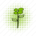 comics, decoration, eco, flower, nature, plant, spring icon