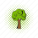 comics, earth, eco, plants, protect, saving, tree icon