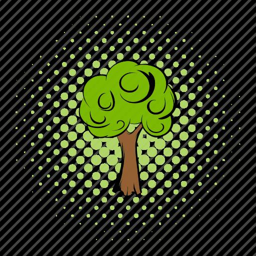 comics, earth, eco, plants, protect, saving, tree icon