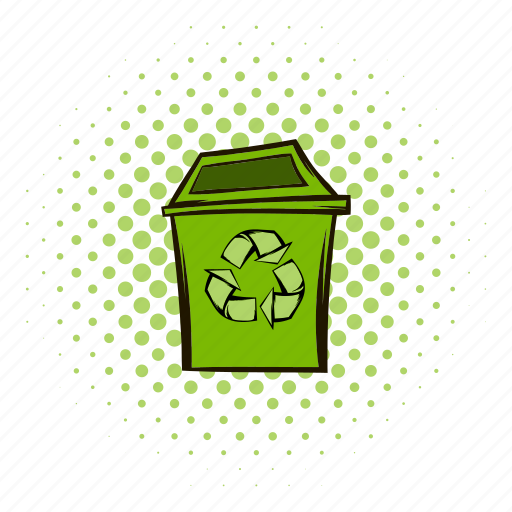 bin, business, can, comics, eco, recycling, trash icon