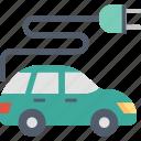 car, ecology, environment, plug, sustainable, transport, vehicle icon