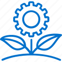 eco, flover, gear, green, natural, plant, technology icon