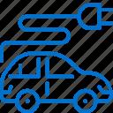 car, eco, electric, plug, sustainable, technology, transport icon