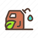 bio, eco, jerrycan, recycle icon