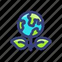 earth, eco, globe, green icon