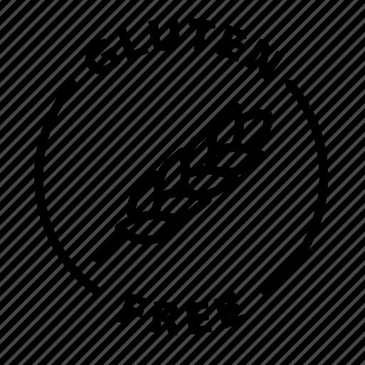 Label, gluten free icon