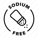 label, sodium free icon