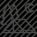 camp, eco, outdoor, tourism, traveler icon