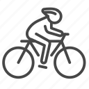 bike, cyclist, eco, tourism, traveler icon