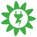 alternative, ecology, energy, environmental, flower, green, power, re-use, recycling, renewable icon