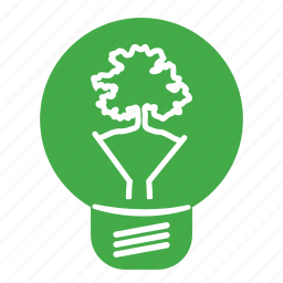 bulb, ecology, environmental, green, label, lightbulb, re-use, recycling, renewable, sign, tree icon