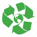 ecology, environmental, globe, green, planet, recycle, restart, the, world icon