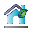ecology, green, home, house, leaf icon