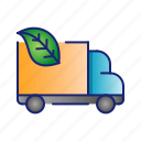 car, ecology, green, leaf, nature icon