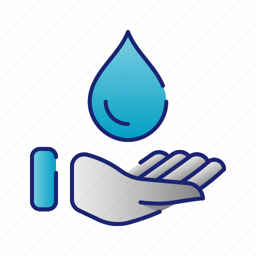 care, ecology, protect, protection, water icon
