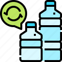 bottle, ecology, enviroment, plastic, recycle icon