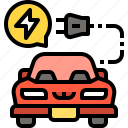 automobile, car, ecology, electric, transportation, vehicle icon