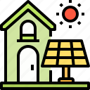 ecology, energy, home, smart, solar, sun, technology icon