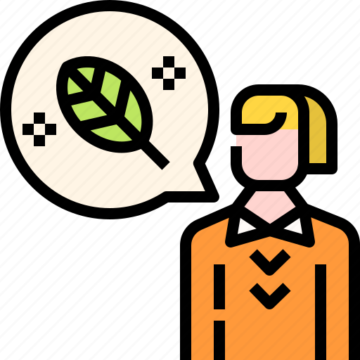 bubble, ecology, leaf, think, user icon