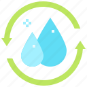 ecology, enviroment, recycle, recycling, water icon