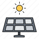 city, energy, panel, smart, solar, technology icon